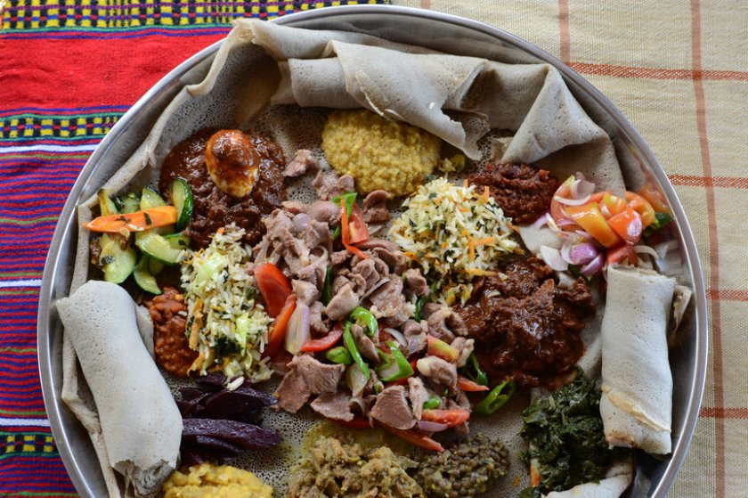 Traditional Ethiopian dish