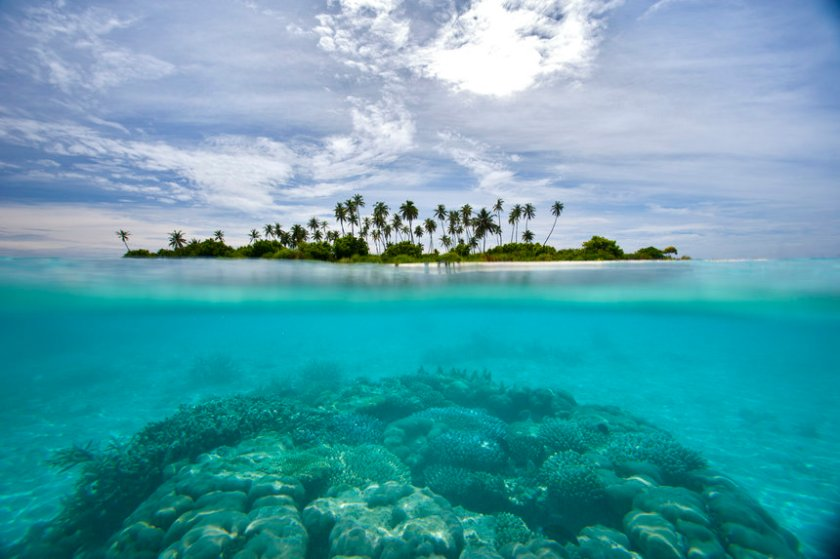 """Maldives, Island on sunny day"""